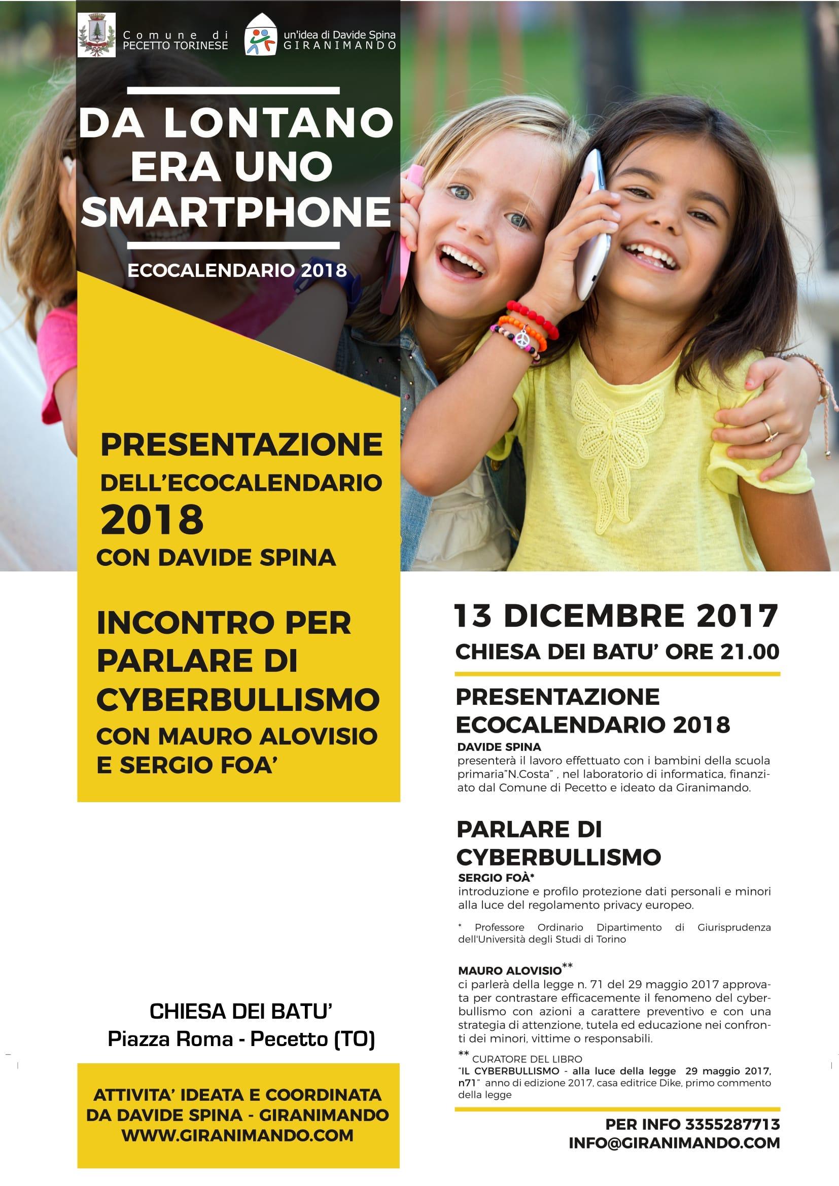 """Comune Di Pecetto Torinese presentazione: """"da lontano era uno smartphone"""" – csig ivrea"""
